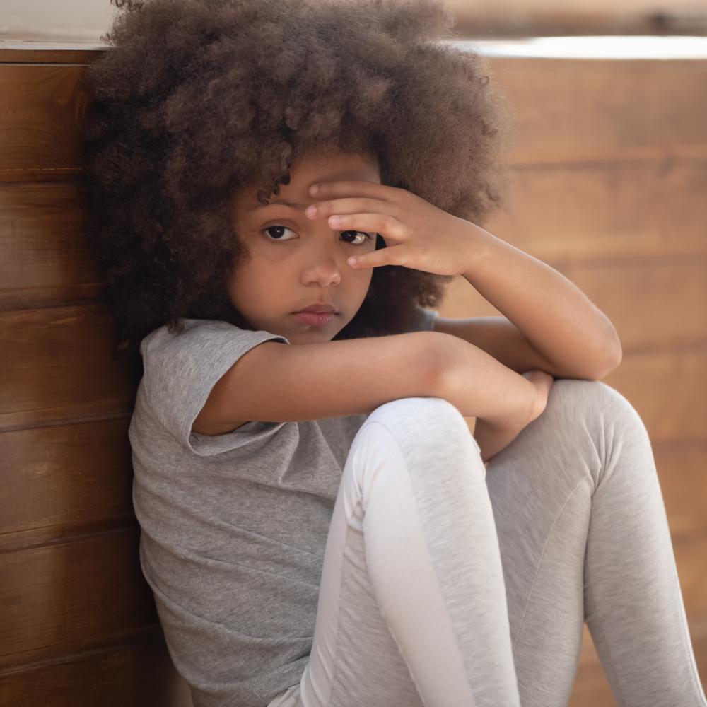 sad looking child